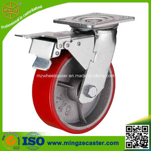Total Brake Heavy Duty Trolley PU Tyre Wheel Caster pictures & photos
