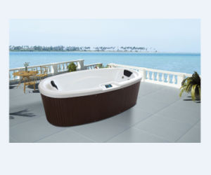 2 Person Acrylic Massage Elliptic SPA Big Tub (M-3360) pictures & photos