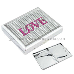 Steel Cigarette Box with Diamond (JJ-S20-CGC14(Love Diamond))