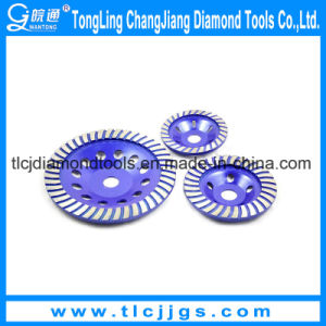 High Performance Double Row Diamond Cup Grinding Wheel pictures & photos
