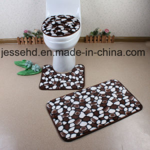 Popular Color and Pattern Bath Mat Set 3piece pictures & photos