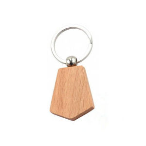 Newst Polygonal Wood Coin Keychain pictures & photos
