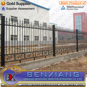 Garden Fence Wrought Iron Fence Designs Steel Fence Power Coating Steel Stube Fence pictures & photos