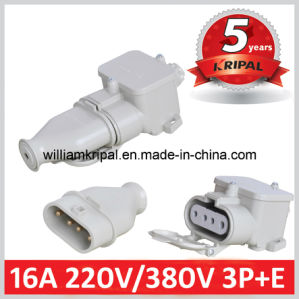16A 220V/380V 3p+E Splash Proof Industrial Plug pictures & photos