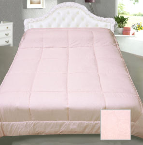 Box Quilting Light Pink Colour Polyester Comforter