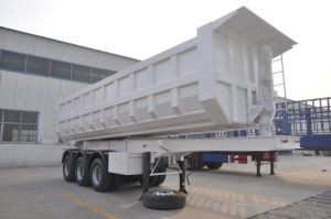 3 Axle U Shape Dump Semi Trailer Tipper Semitrailer pictures & photos