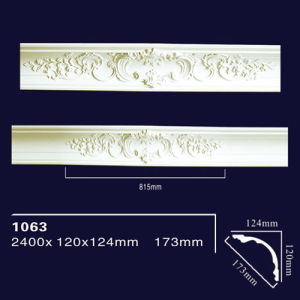 1063 PU Fireproof Material Crown Piece Molding Trim