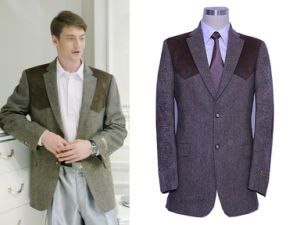 Men′s Wool Leisure Suit (PL006)
