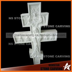 Cross Monument Tombstone with Angels Carving pictures & photos