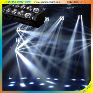 LED DJ Effect Light Beam 8PCS 10W Spider Scan Stage Light