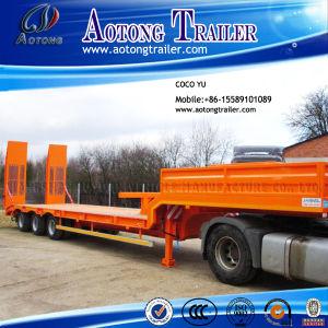 Tri Axles Gooseneck 13meters Excavator Low Bed Semi Trailer pictures & photos