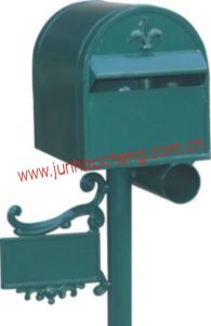 Outdoor Using Pumpkin Flower Design Aluminum Post Mounted Mailboxes / Free Standing Letter Box (JHC-1022)