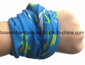 Custom Made Logo Printed Microfiber Kids Magic Seamless Sports Neck Tubular pictures & photos