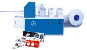 Mj-a Embossed Mini Hanky Folding Handkerchief Paper Finish Machine pictures & photos