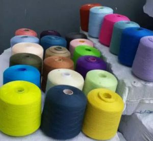 Pure Polyester 20/2 White Woven Yarn pictures & photos
