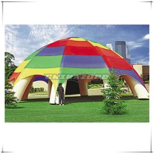 Outdoor Use Inflatable Advertising Tent Setup on Lawn