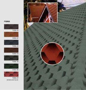 Mosaic Type Bitumen Roofing Shingles pictures & photos