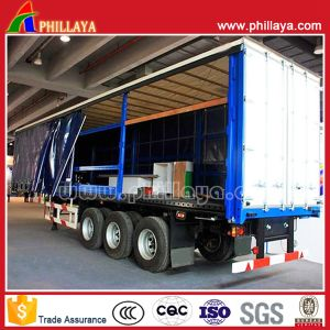 Bulk Light Cargo Transport Van Semi Curtain Side Trailer pictures & photos