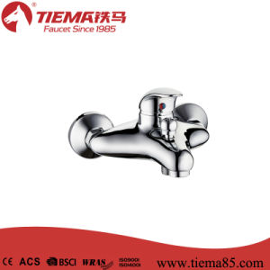 New Design Brass Body Chrome Bathroom Show Mixer (ZS64901)