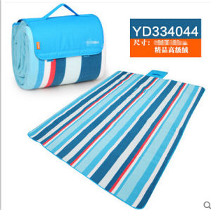 Rural Blue and Red Color Bar Microfiber Picnic Blanket pictures & photos