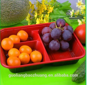 U. S. &Europe Market Popular Safety Food Grade Custom Design Free Sample Frozen Food Packaging Tray for Freshness Keeping pictures & photos