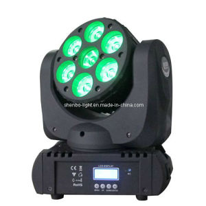 Mini Moving Head 7PCS 12W 4-in-1 LED Disco Light