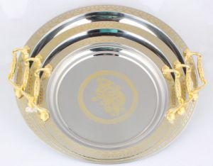 Stainless Steel Round Tray for Famliy Party pictures & photos