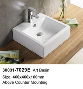 Bathroom White Ceramic Sanitary Ware Washing Sink (30031) pictures & photos