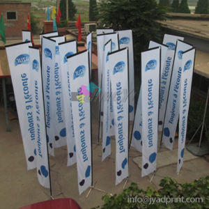 High Quality Advertising Display Outdoor Promotion Rectangle Flag With Printing pictures & photos