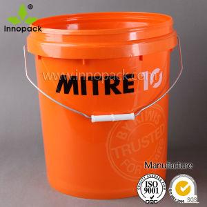 Plastic Bucket, 20L Paint Bucket, White Plastic Pail with Handle pictures & photos