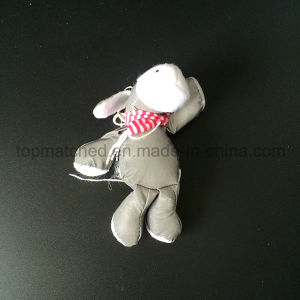 Red Stripe scarf Hippo Soft Plush Reflective Safety Toy Hanger pictures & photos