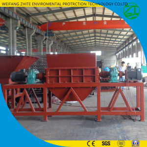 Double Shaft Shredder for Animal Bone/Plastic/Rubber/Tirekitchen Garbage/Wood/Solid Waste pictures & photos