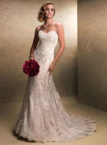 Ivory Mermaid Lace Bridal Wedding Evening Dresses