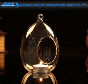 Clear Glass Hanging Egg Style Tealight Candle Holder pictures & photos