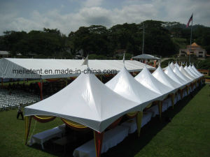 5X5 White Outdoor Pagoda Tent White Pyramid Tent for Sale pictures & photos
