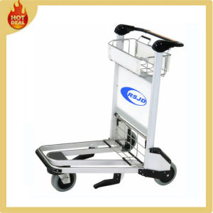 Aluminum Airport Passenger Baggage Luggage Cart with Basket pictures & photos