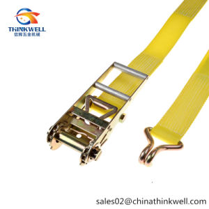 8000kg J Hook Rachet Tie Down Strap Lashing Strap pictures & photos