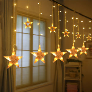 2m 108LEDs Star LED Curtain Light for Wedding/Party/Christmas Decoration pictures & photos