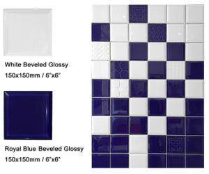 "6""X6""/15X15cm White Glossy Bevel Subway Tile for Bathroom and Kitchen Wall pictures & photos"
