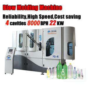 4 Cavities Automatic Plastic Extrusion Blow Molding Machine pictures & photos