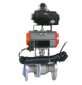 Flange Type Ball Valve with Limit Switch Box, Solenoid Valve pictures & photos