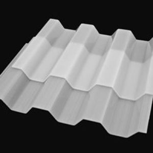 1mm Corrugated Solid Polycarbonate PC Sheet for Greenhouse Skylights Price pictures & photos