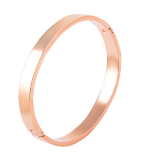 Plain Round Openable Stainless Steel Engravable Bangle pictures & photos