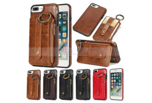 Card Slot Wallet PU Leather Mobile Phone Case for iPhone X 8 8 Plus 7 6 Samsung Hard Case pictures & photos