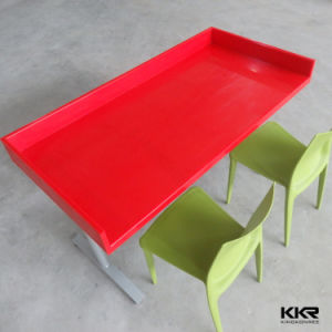 4 Seaters Solid Surface Dining Table Top for Restaurant pictures & photos