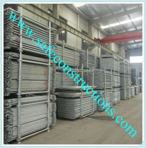 Safe SGS Approved Galvanized Scaffolding for Construction pictures & photos