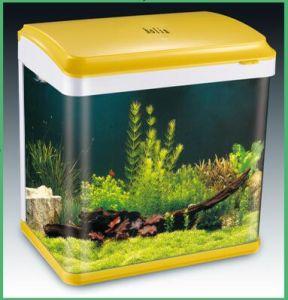 Desktop Glass Aquarium Fish Farm Tank for Sale with Inner Filter, LED (HL-ATD85) pictures & photos