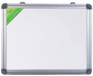 Single Side Magnetic White Board with Aluminum Frame in MDF