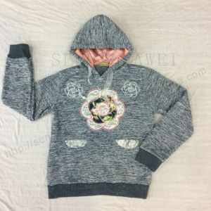 Winter Children Girl Sport Grey Hoodies for Kids Wear Clothes Sq-6670 pictures & photos