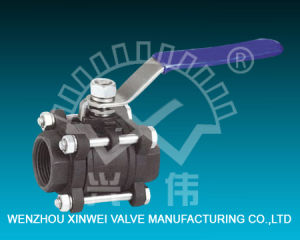 Three Piece Model Carbon Steel Ball Valve pictures & photos